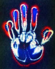 Kirlian Handprint (kirlian) Tags: kirlian kirlianphotography auraphotography kirlianresearch