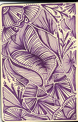 "121306 Purple Flow (Stephanie ""Biffybeans"" Smith) Tags: art moleskine pen ink notebook sketch artist purple skin drawing journal workinprogress wip doodle draw mole moleskineart moleskin moleskinesketchbook skine moleskinesketch purpleflow biffybeans"