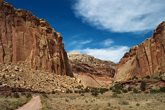 Red Rocks and Dirt Road (James Marvin Phelps) Tags: park red southwest river photography james utah colorado rocks desert plateau canyon fremont capitol national reef phelps mandj98