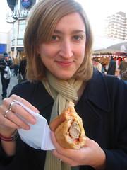 Jessica's bratwurst