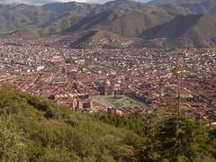 vista del cuzco desde la fortaleza Sacsayhuamán