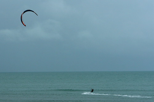 Kite Surf... with no waves and very little wind...