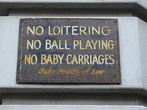 no baby carriages?