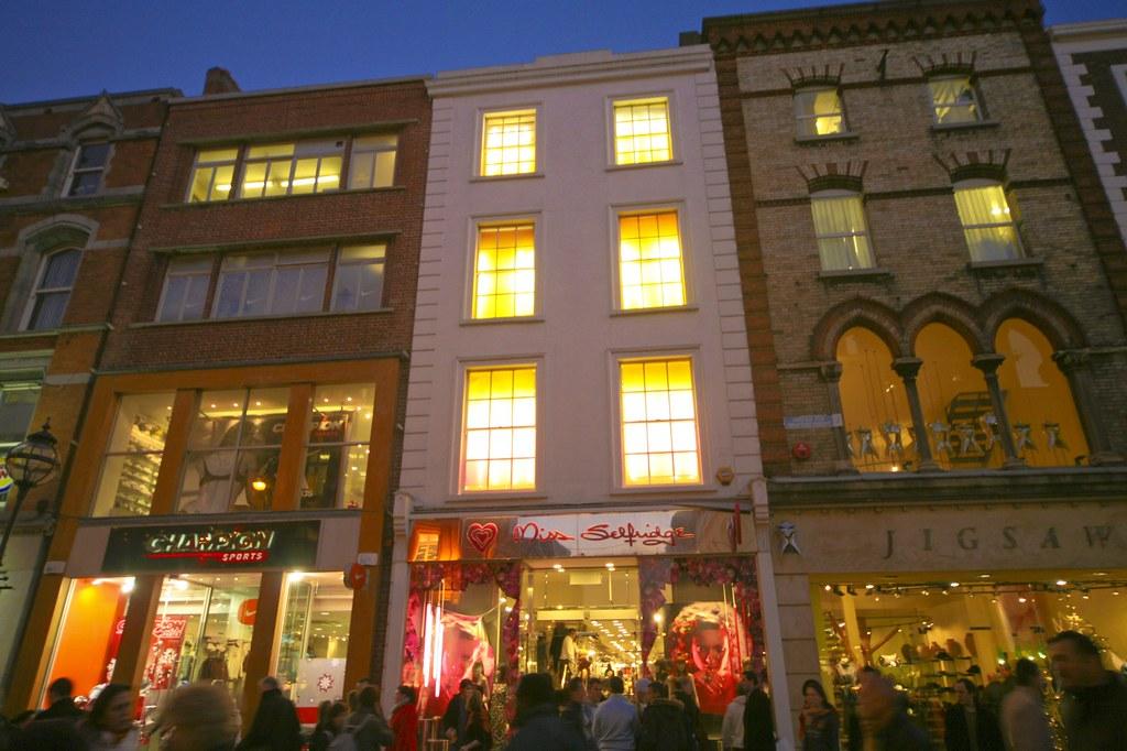 Grafton Street At Christmas