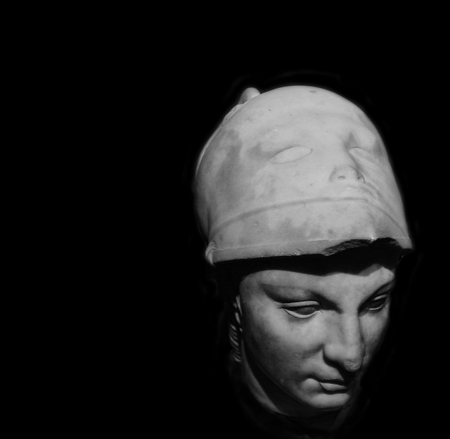 Bust of Minerva, View of Helmet