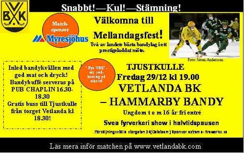 Vetlanda BK vs Hammarby