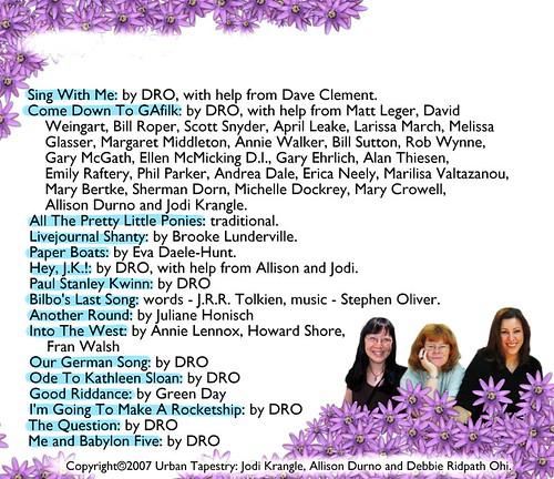 Back of CD
