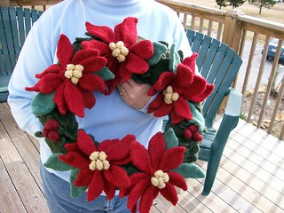 Felted Christmas Wreath