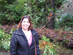 "nahid with big fallen tree • <a style=""font-size:0.8em;"" href=""http://www.flickr.com/photos/70272381@N00/343522122/"" target=""_blank"">View on Flickr</a>"