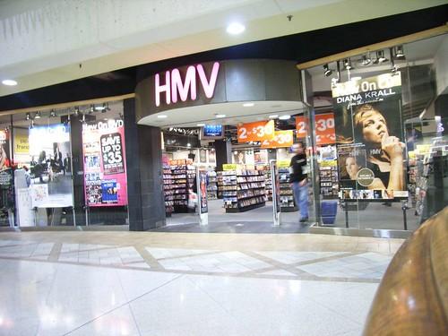 The Rideau Centre HMV music store.