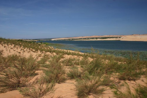 Lake and sand dunes...