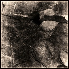 An Experiment (Olli Keklinen) Tags: blackandwhite bw abstract rock sepia photoshop square nikon d200 2007 20070107 ok6 ollik