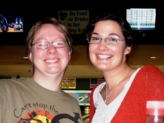 Heather and I at the Bowling Alley