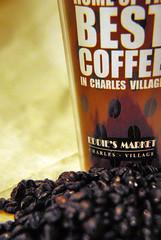 the best coffee in charles village (dogfaceboy) Tags: cup coffee beans mug coffeebeans eddies thebestcoffeeincharlesvillage eddiesmarket