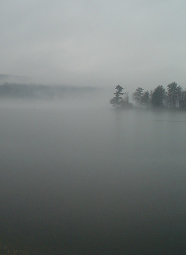 Fog on Newfound Lake  (portrait)