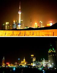 The bund (Simple Dolphin) Tags: china city light building tower night river cityscape shanghai nightshot oriental pudong bund