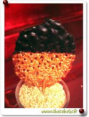 Sucette au sézame et chocolat