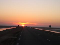 rising sun in chott jerid,tunisia (elmina) Tags: sun sunrise tunisia chottjerid