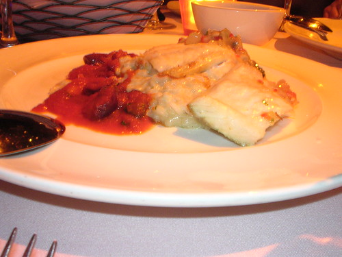 Mediterranean Turbot with Crab Risotto and Olive Tomato Ragout