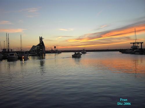 amanecer en puerto noray
