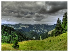 Behind the horizon... (| sk |) Tags: mountains nature landscape bayern bavaria horizon natur berge landschaft hdr horizont