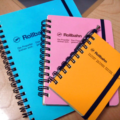 3 Rollbahn notebooks