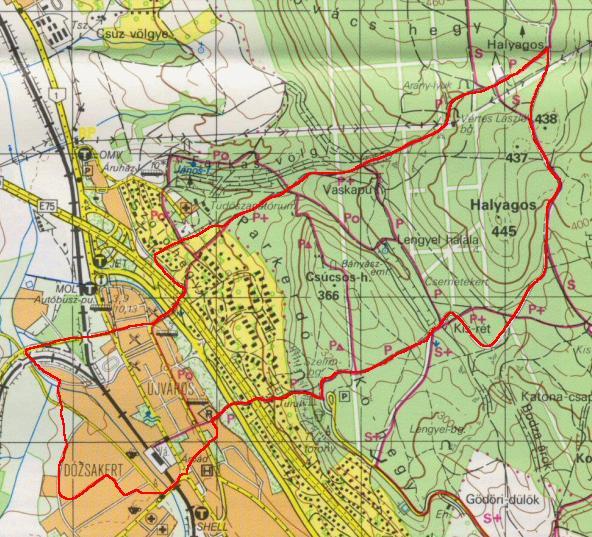 Gerecse - 14km-es körünk