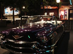 Elvis car (cyanocorax) Tags: car streetlight cola memphis tennessee elvis pepsi graceland hopperesque