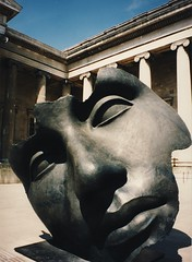 British Museum courtyard (kimbar/Thanks for 2.5 million views!) Tags: england sculpture london beautiful museum 400 predigital britishmuseum kiss2 mitoraj igormitoraj kiss3 i500 kiss1 kiss4 kiss5 8600f canoncanoscan