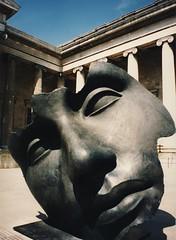 British Museum courtyard (kimbar/Thanks for 3 million views!) Tags: england sculpture london beautiful museum 400 predigital britishmuseum kiss2 mitoraj igormitoraj kiss3 i500 kiss1 kiss4 kiss5 8600f canoncanoscan