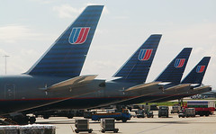 United Airlines 777s