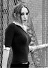 Raven & the fence (Mike Wood Photography) Tags: portrait bw woman girl fence eos 350d cool intense pretty slim katy chainlink arr trim raven allrightsreserved mikewood w4b mwblog ©w4bphotography ©mikewood mikewoodphotographycom ©mikewoodphotography