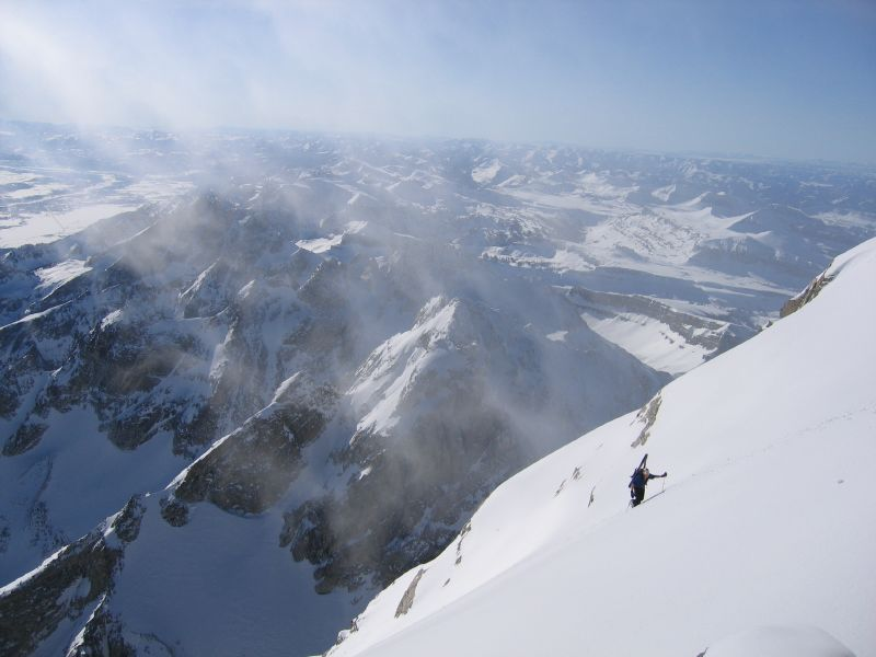 Reed nears the top of the Grand Teton