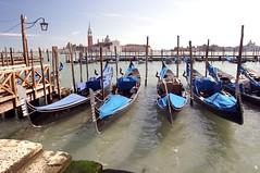 blue gondolas (CruisAir) Tags: blue venice water catchycolors geotagged canal gondola cruisair geo:lat=45433135 geo:lon=12339524