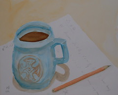 Theorem machine (magnuscanis) Tags: coffee pencil artwork watercolour mathematics 20030212