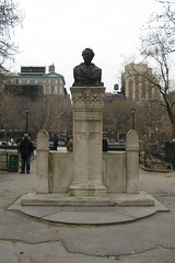 NYC - Greenwich Village: Washington Square Park - Alexander Lyman Holley bust by wallyg, on Flickr
