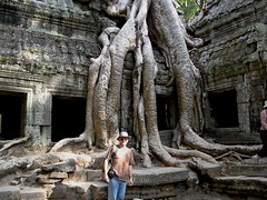 Me in Ta Prohm (zmaricbgd) Tags: cambodia angkorwat taprohm a710is