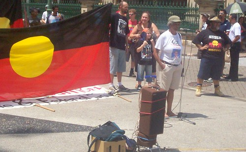 Sister Betty Munro - Invasion Day Rally and March, Parliament House, George St, Brisbane, Queensland, Australia 070126-1