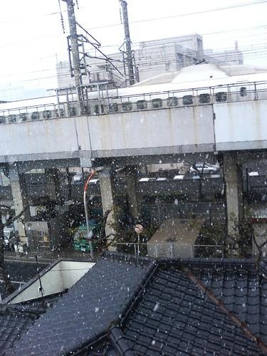 nieve y shinkansen en fukuoka