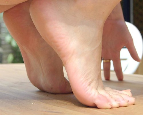 Girls feet up close