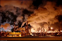 Night Shift (A guy with A camera) Tags: canada cold industry night nikon flickr industrial edmonton smoke steam alberta oil environment refinery climatechange globalwarming petroleum refineries refining crudeoil petrochemicals splendiferous d80 outstandingshots firsttheearth globalwarmingawareness