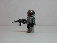 S.W.A.T. 2035 (Dunechaser) Tags: lego military police scifi minifig minifigs lawenforcement m4 swat weapons customs machineguns m23 brickarms