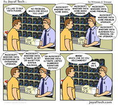 Vista, Vista, Vista, Vista... versus OS X (six steps ) Tags: windows apple comics osx jokes microsoft vista joyoftech