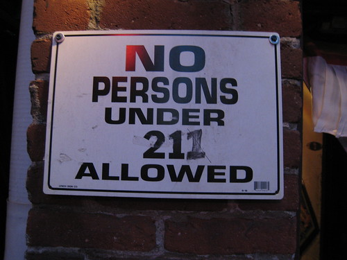 No persons under 211 allowed