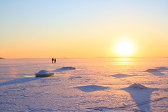 walk on the sea (Fredww) Tags: winter sea sun snow ice finland helsinki abigfave
