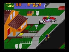 Paperboy -- but not the one going door to door near Horton Street. Screenshot by gamerscoreblog.