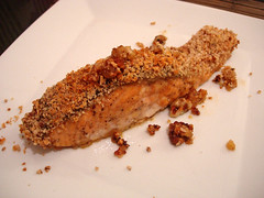 Salmon Bake with Pecan Crunch Coating