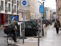 Fahrradstrasse in Berlin Mitte