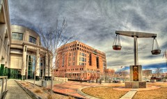 The Halls of Justice (JoelDeluxe) Tags: newmexico court justice scales joeldeluxe federal hdr municipal scalesofjustice