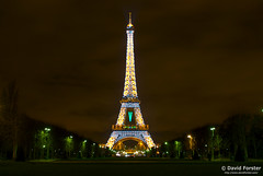 Eiffel Tower lit up for Christmas/New year